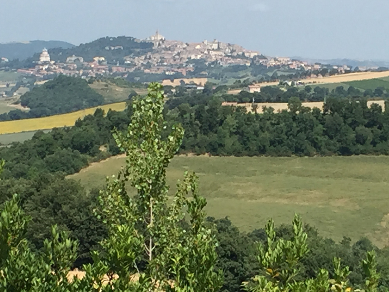 Unique View Of Todi From This Elegant Restored Farmhouse